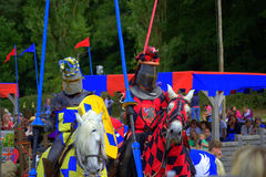 Medieval knights tourney Stock Images