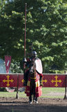 Medieval Knights waiting to joust Warwick Castle Stock Images