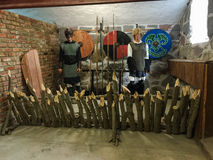 Medieval knigts with shields Stock Image