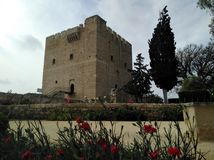 The medieval Kolossi Castle in Cyprus Limassol stock photo