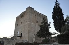 The medieval Kolossi Castle in Cyprus Limassol stock photography