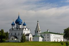 Medieval Kremlin and Orthodox Cathedral of Nativity. Suzdal, Russia. Medieval Kremlin and Orthodox Cathedral of Nativity. Suzdal, Vladimir region, Golden Ring Stock Photos