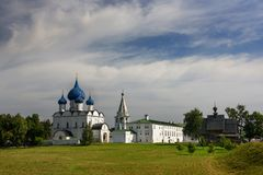 Medieval Kremlin and Orthodox Cathedral of Nativity. Suzdal, Russia. Medieval Kremlin and Orthodox Cathedral of Nativity. Suzdal, Vladimir region, Golden Ring Stock Photo