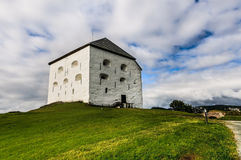 Medieval Kristiansten Fortress in Trondheim,. Norway under impressive sky Stock Image