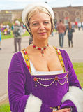 Medieval Lady at Fort George Stock Photography