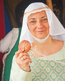 Medieval Lady at Fort George Stock Photos