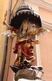 Medieval lady justice in Salzburg Stock Image