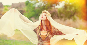 Medieval lady Stock Images