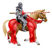 Medieval Lance Knight on Horse Royalty Free Stock Image