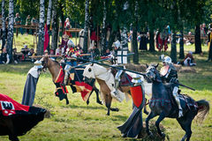 Medieval Lancer Knights stock photos