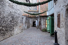 Medieval Lane in Old Town Royalty Free Stock Image