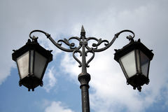 Medieval lanterns. Beautiful renaissance lamps in Warsaw's Old Town Stock Image