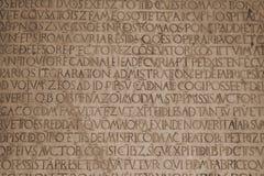 Medieval latin catholic inscription Stock Photography
