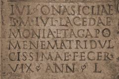 Medieval latin catholic inscription Royalty Free Stock Photos