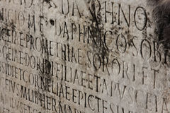 Medieval latin catholic inscription Stock Photo