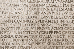 Medieval latin catholic inscription Royalty Free Stock Image