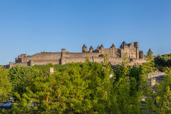 Medieval Le Cite in Carcassonne Royalty-vrije Stock Fotografie