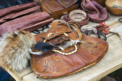 Medieval leather goods Royalty Free Stock Photos