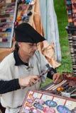 Medieval Leatherworker stock photos