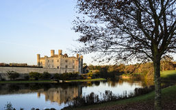 Medieval Leeds Castle Bathed in Winter Light Stock Photos