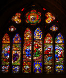 Medieval Life War Stained Glass Cathedral Toledo Spain Royalty Free Stock Image