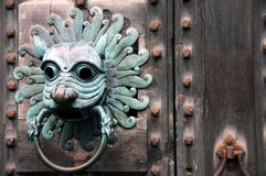 Medieval lion door knocker Royalty Free Stock Photo