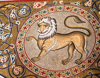 Lion mosaic Stock Image