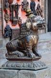 Medieval Lion Statue At Pattan,Kathmandu Valley, Nepal