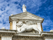 Medieval lion, symbol of Venice republic, Italy Stock Photography