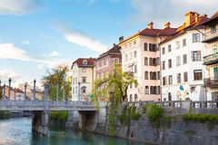 Medieval Ljubljana, capital of Slovenia, Europe. Royalty Free Stock Photos
