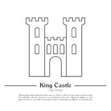 Castle fortress logo stock photos images pictures for Cut out castle template