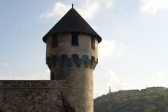 Medieval Tower Buda Castle Budapest royalty free stock photography