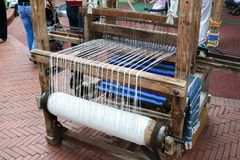 Medieval loom (frontal view) Stock Photography
