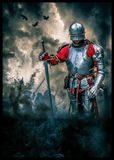 Medieval knight poster Stock Photography