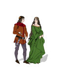 Medieval lovers Royalty Free Stock Image