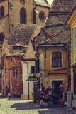 Medieval Lower Town, Sibiu, Romania Royalty Free Stock Image
