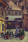 Medieval Lower Town, Sibiu, Romania Royalty Free Stock Photos