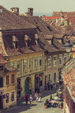 Medieval Lower Town, Sibiu, Romania Stock Photo