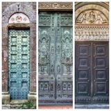 Medieval main doors in Tuscany Stock Photos
