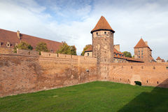 Medieval Malbork castle on the river Nogat Royalty Free Stock Photo