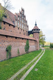 Medieval Malbork castle on the river Nogat Royalty Free Stock Photos