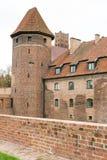 Medieval Malbork castle on the river Nogat Stock Photography