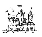Medieval Mansion Doodle Stock Photos