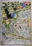 Medieval Map Of North America And Florida Stock Photo