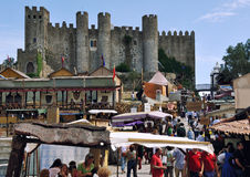 Medieval Market in Obidos, Portugal Royalty Free Stock Photography