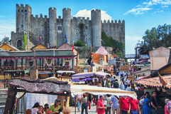 Medieval Market in Obidos, Portugal Royalty Free Stock Image
