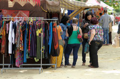 Medieval market: People doing shooping 13 Royalty Free Stock Photography