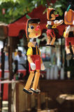 Medieval market: Pinoccho puppet Stock Images