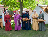The Medieval Market in Turku Royalty Free Stock Images