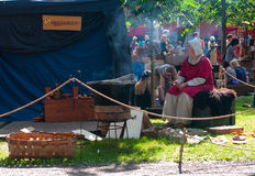 The Medieval Market of Turku Royalty Free Stock Images